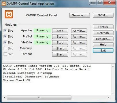 XAMPP-interface How to set up Web Server on Windows, Linux, and Mac Using Apache