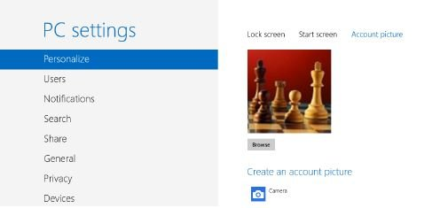 Command-Central-for-changing-your-account-picture Use Your Own Image for Your User Account Windows 8