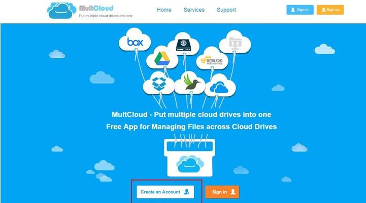 How-to-use-MultCloud-1 Manage Multiple Cloud Service Storage Space at Single Location with MultCloud