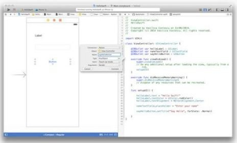 "iOS-Swift-Programming-outlet How to Create iOS Swift ""Hello World"" Program"