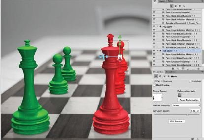 Add-Another-Colour-Photoshop-3D Create A 3D Chess Set with Photoshop