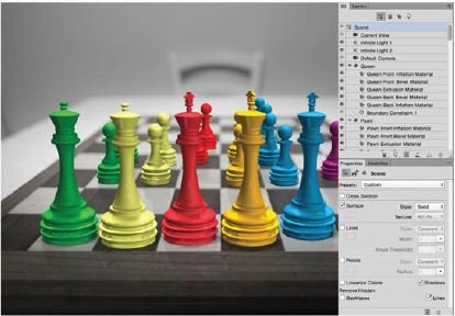 Build-The-Rest-Photoshop-3D Create A 3D Chess Set with Photoshop