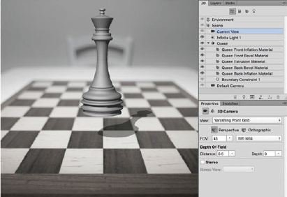 Change-The-Current-View-Photoshop-3D Create A 3D Chess Set with Photoshop