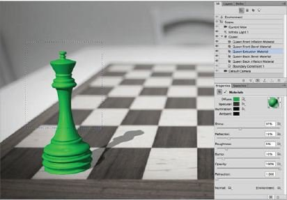Colour-The-Object-Photoshop-3D Create A 3D Chess Set with Photoshop