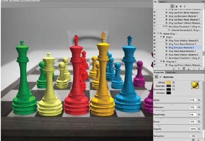 Distort-The-Shapes-Photoshop-3D Create A 3D Chess Set with Photoshop