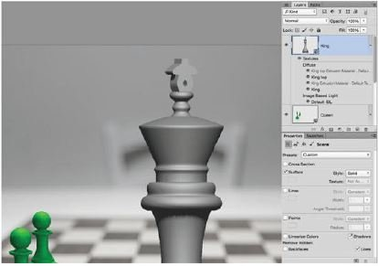 Make-A-King-Photoshop-3D Create A 3D Chess Set with Photoshop