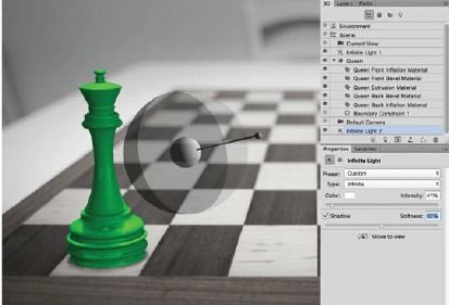 Match-The-Lightning-Photoshop-3D Create A 3D Chess Set with Photoshop