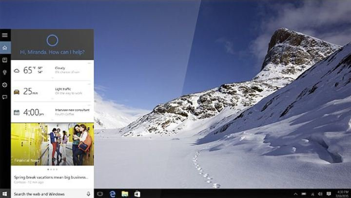 Windows-10-Desktop-Interface Windows 10 Sneak Peek