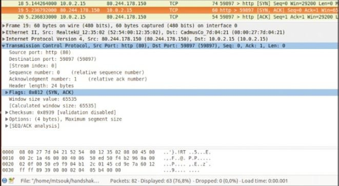 Packet-Screenshot Wireshark Tutorial to Analyse traffic