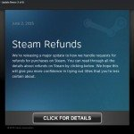 Steam Announces New Policy, Short games and Steam refunds