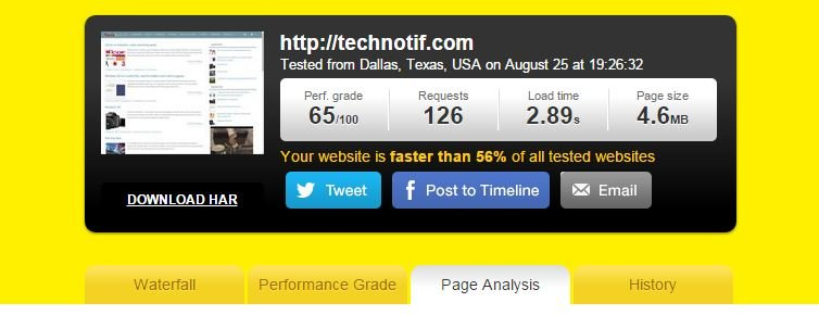 Technotif-Speedtest-pingdom 8 Ways To Optimise Your Wordpress Site