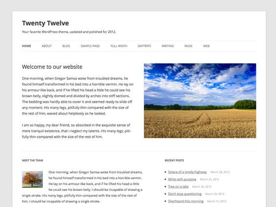 Twenty-Twelve-Theme Extend Your Wordpress Theme With WP Child Themes