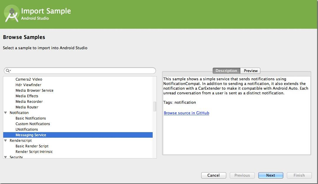 Import-samples-from-GitHub Android Studio: A Platform for Android Development