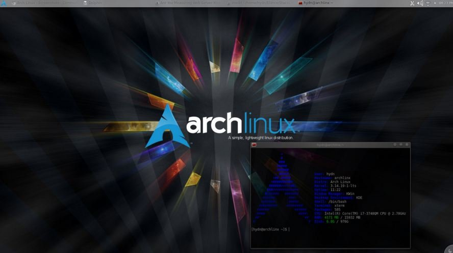 ArchLinux-interface Choosing an OS for your Raspberry Pi
