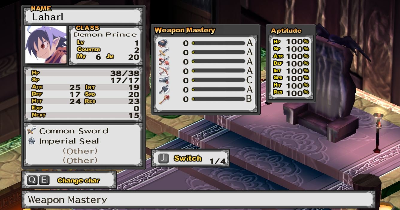 Disgaea-PC-character-stats Disgaea PC